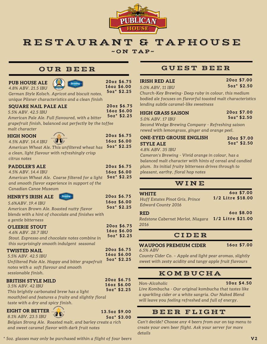 drink menu page 1