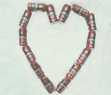 Beer-cans-in-a-heart-shape